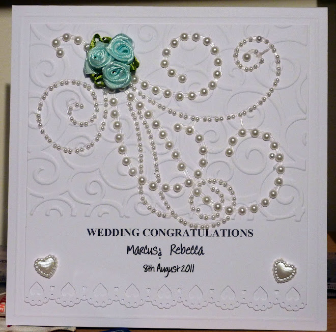 white on white wedding card