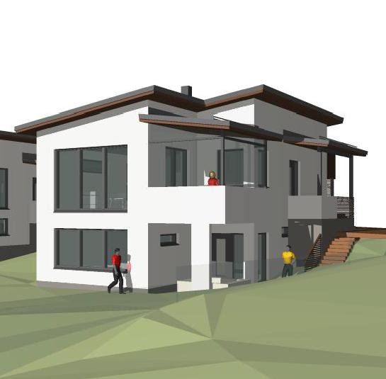 Talo ilman terassiparveketta