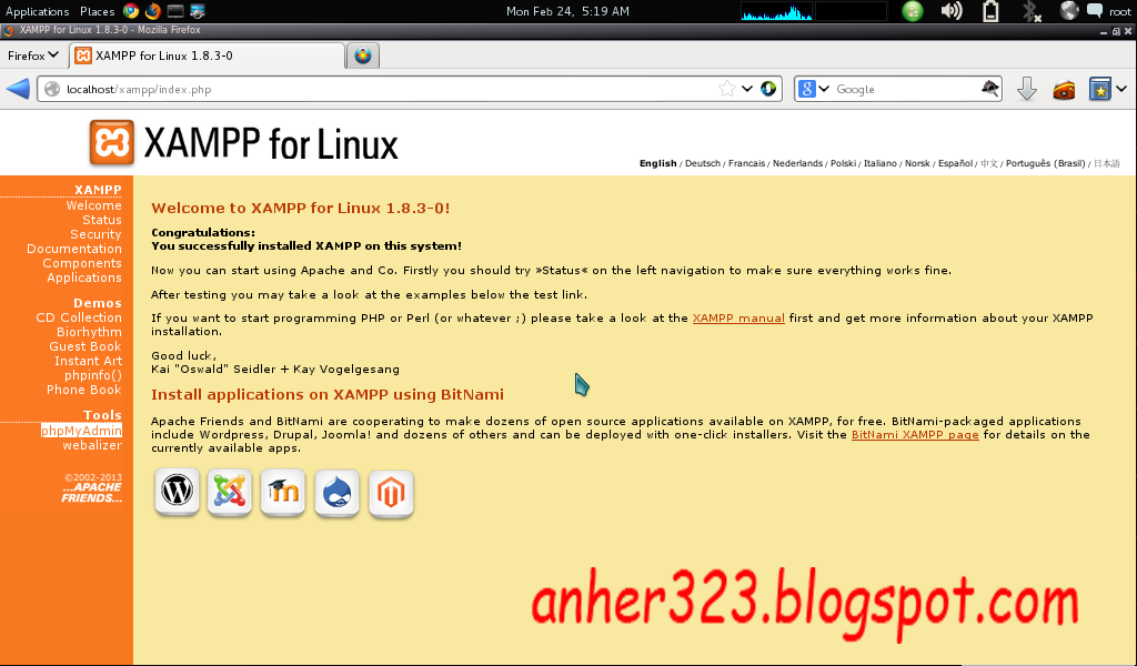 Xampp Kali Linux