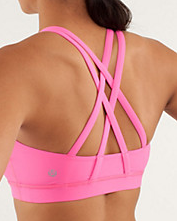 Style Athletics Lululemon Pink Dare to be Free Sports Bra