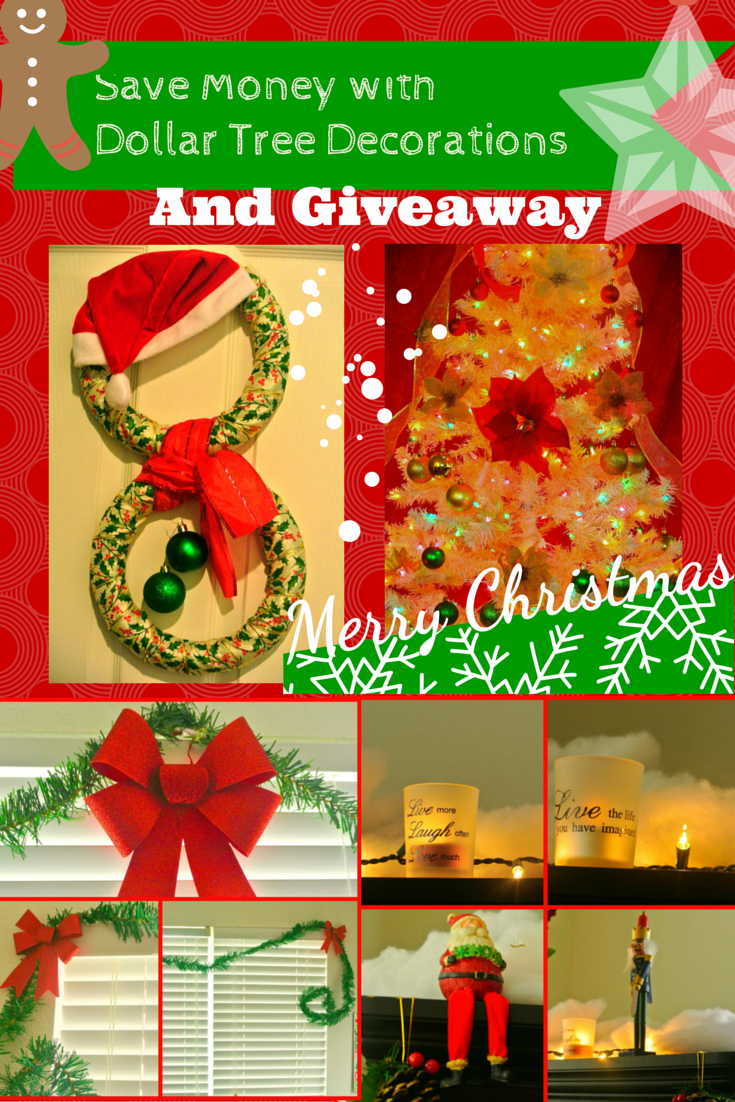 Home Decor Giveaway win a christmas wreath for your home Holidays Home Decor Dollar Tree Review