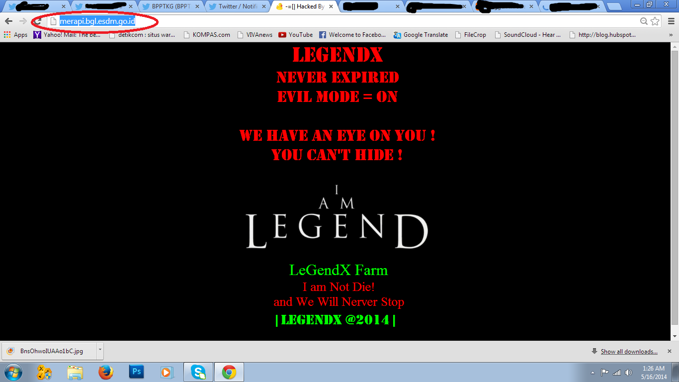 Website BPPTKG di Hack, update aktivitas Gunung Merapi lewat socmed BPPTKG