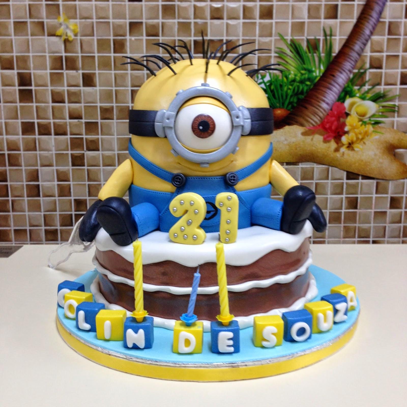 The Sensational Cakes MINIONS 3D CAKE SINGAPORE OVER