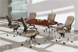 Alba Series Conference Table with Metal Legs
