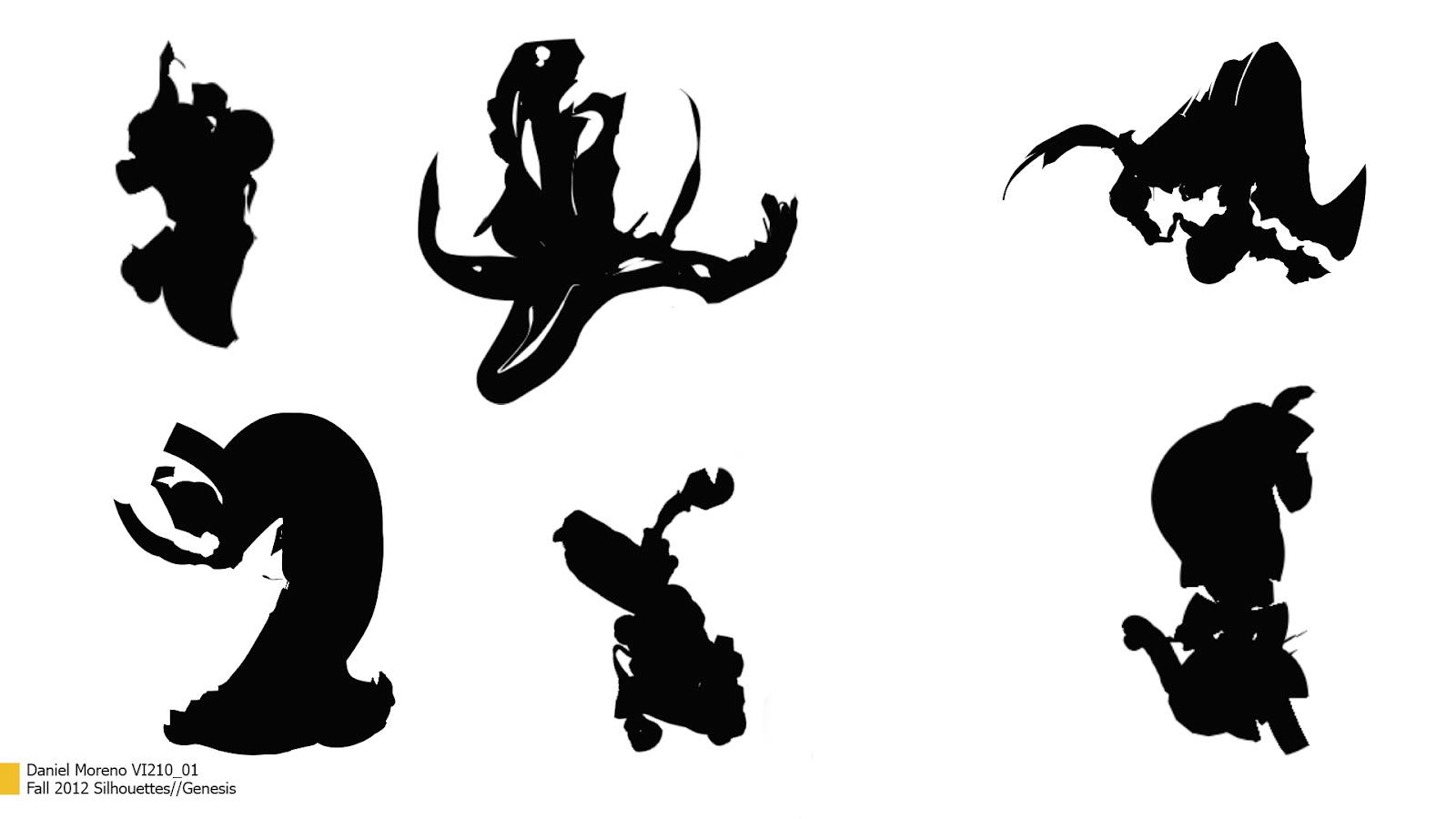 Character Design Silhouette : Daniel moreno motion design silhouette character designs