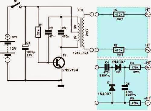 High-Voltage Circuit Diagram