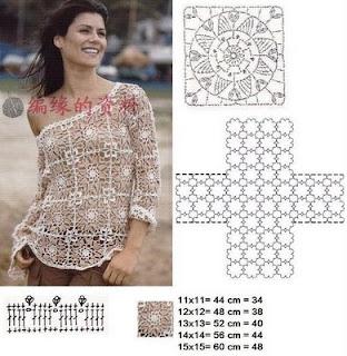 Dos lindas blusas en cuadrados