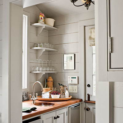 Mix and chic home tour a cape cod style cottage in atlanta for Kitchen designs with butler pantry