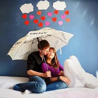 علامات حب الرجل للمرأة - حب رومانسية عشق غرام تحت المطر شمسية
