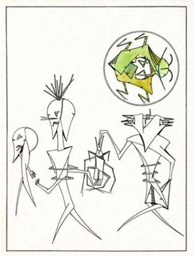 Jacques LACOMBLEZ (poèmes) et Georges-Henri MORIN (dessins) LE CHANSONNIER, QUADRI ÉDITIONS