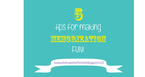 memorization for kids