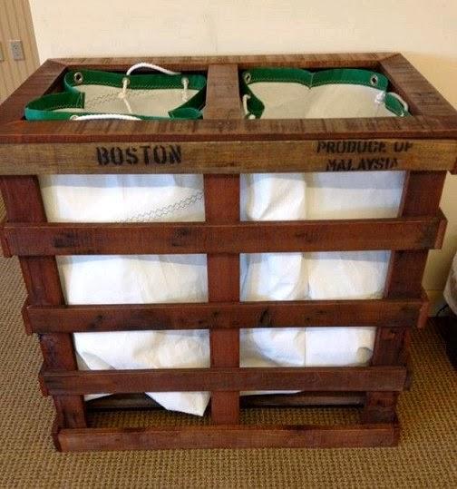 Pallet Wood Laundry Bin