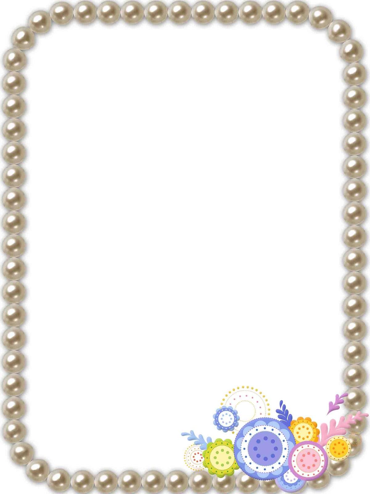 Perfecto Marcos De La Foto Con Perlas Ornamento - Ideas para Decorar ...