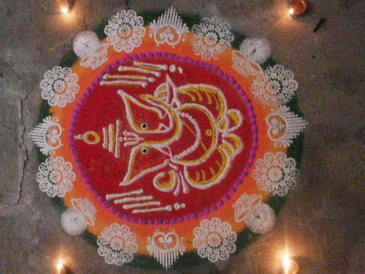 Ganesha Rangoli 17
