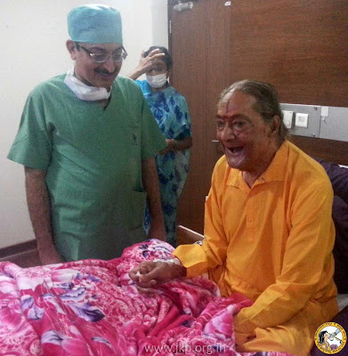 Jagadguru Shree Kripaluji Maharaj in hospital