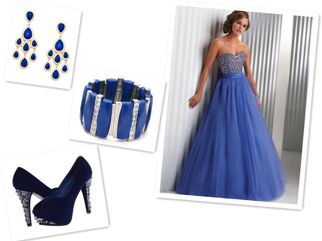 Taffeta Sweetheart Blue A-Line Long Prom Dress