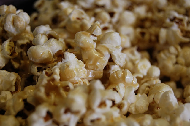 kristy.makes: recipe: super simple microwave caramel corn