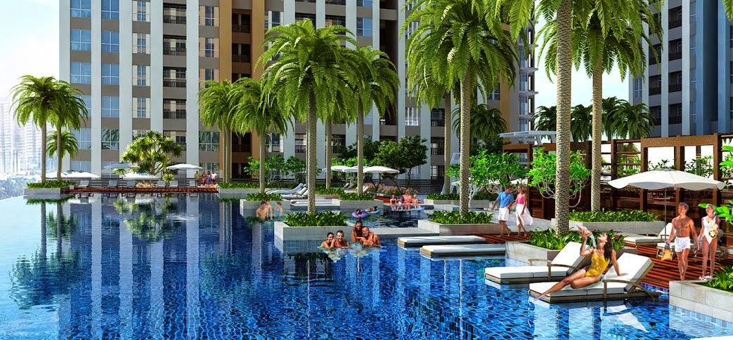 hồ bơi tại dự án căn hộ botanica