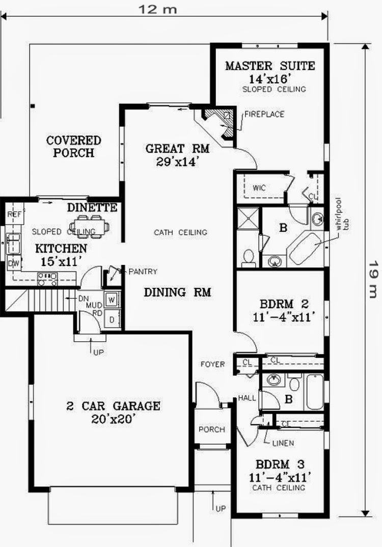 10 Ide Denah Rumah Minimalis 1 Lantai Ide Desain Rumah Minimalis