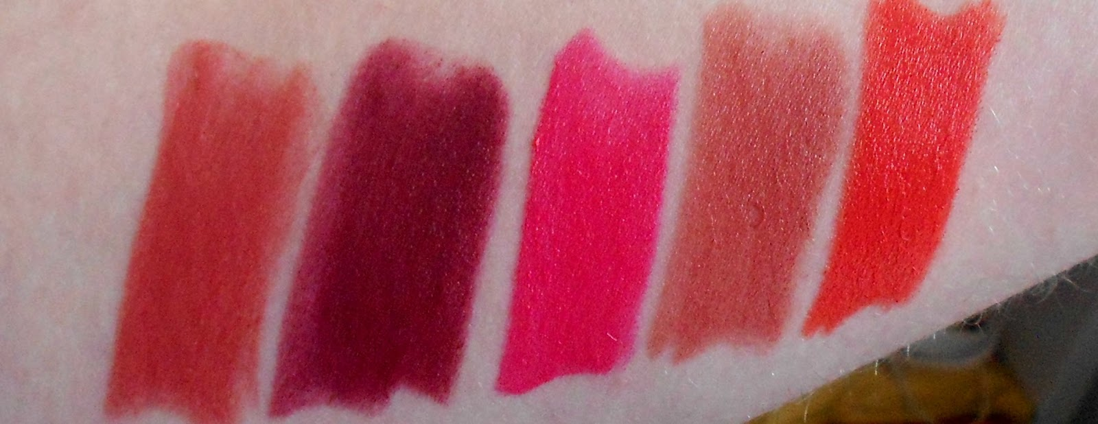 makeup rumours haul  lipstick swatches