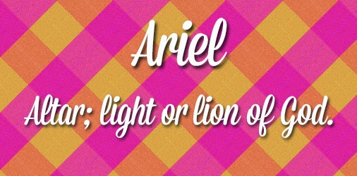 Ariel Cute Girl Names