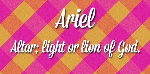 Ariel Cute Girl Names