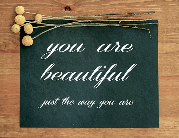 You Are Beautiful Art Print // Bubby and Bean