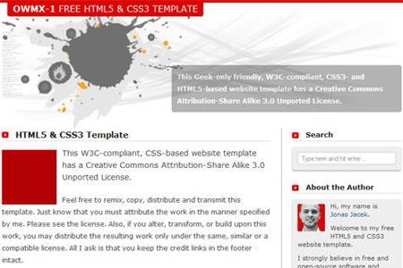 50 Fresh Free HTML5 and CSS3 Website Templates