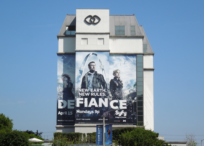 Giant Defiance series premiere Syfy billboard