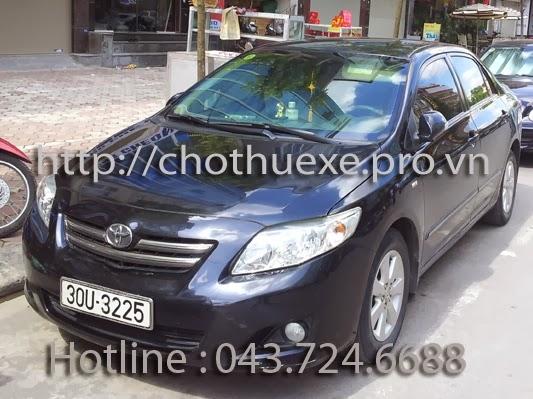 Cần thuê xe du lịch 4 chỗ Toyota Altis giá rẻ