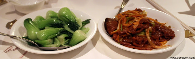 Entrantes del restaurante Peking Garden
