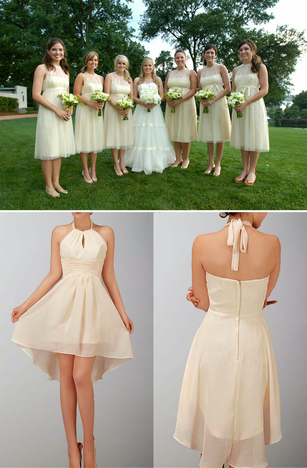 More Details About The Bottom White Bridesmaid Dressplease Click Here