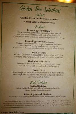 Olive Garden Restaurant Review Thriving Gluten Free