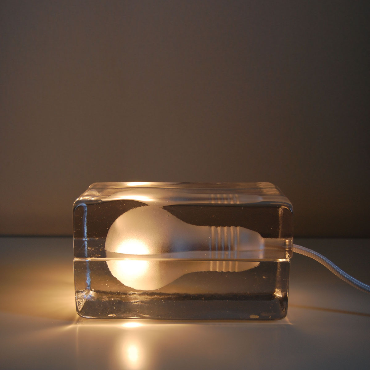 Ice Block Lamp Cast In Glass By Design House Stockholm