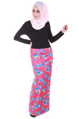 Model Rok Pensil Muslimah Motid Bunga