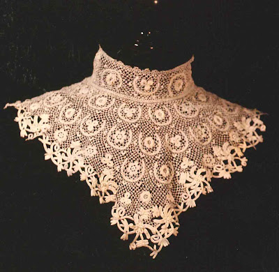 I have a real fondness for vintage crochet work textiles and clothing