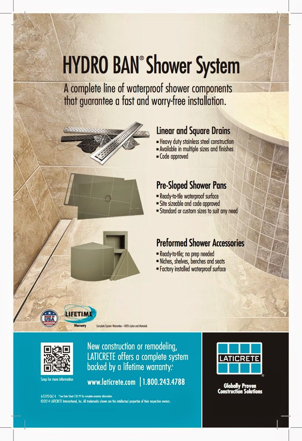 Hydro Ban Shower Pan