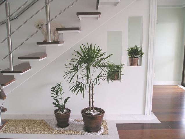 Decoracao De Sala Com Escada ~ Construindo Minha Casa Clean 30 Salas Decoradas com Escadas