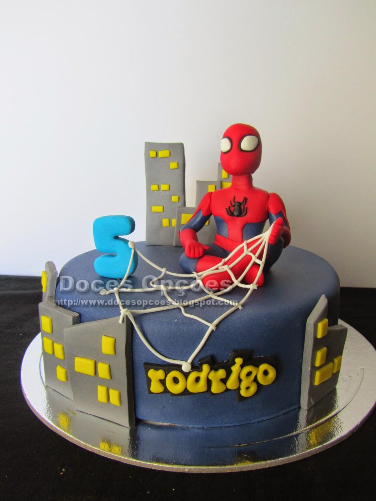 Gâteau d'anniversaire avec Spiderman