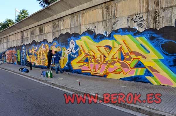 Graffitis de Berok Jolich Dam y Atila en Terrassa