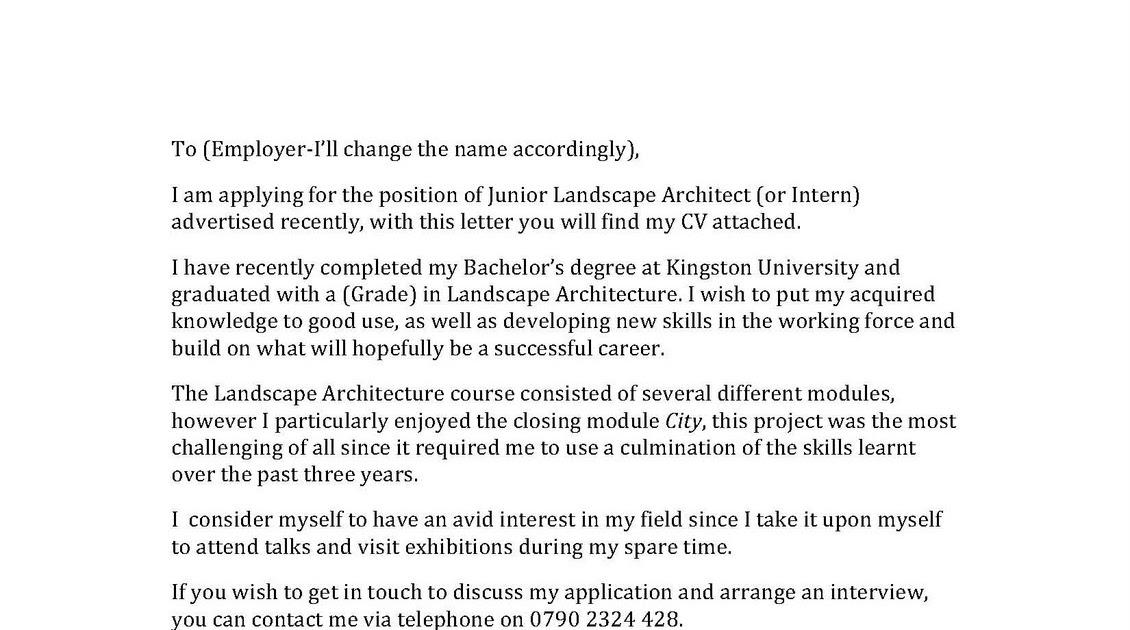 landscape is diversity cover letter