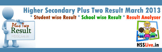 Higher Secondary Plustwo Result 2013