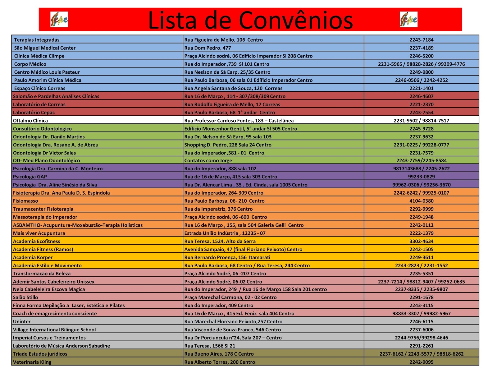 PARCERIAS DE DESCONTO 2018