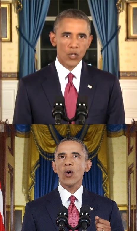 Irak et Syrie ou l'arnaque occidentale de l'EI  Obama%2Bfausses%2Bcornes