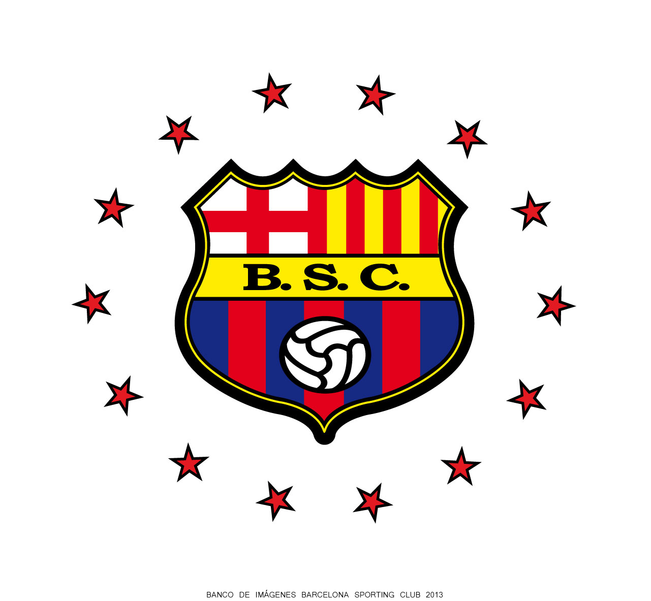 Escudo Barcelona de Ecuador con 14 estrellas circulares ~ Imagenes ...