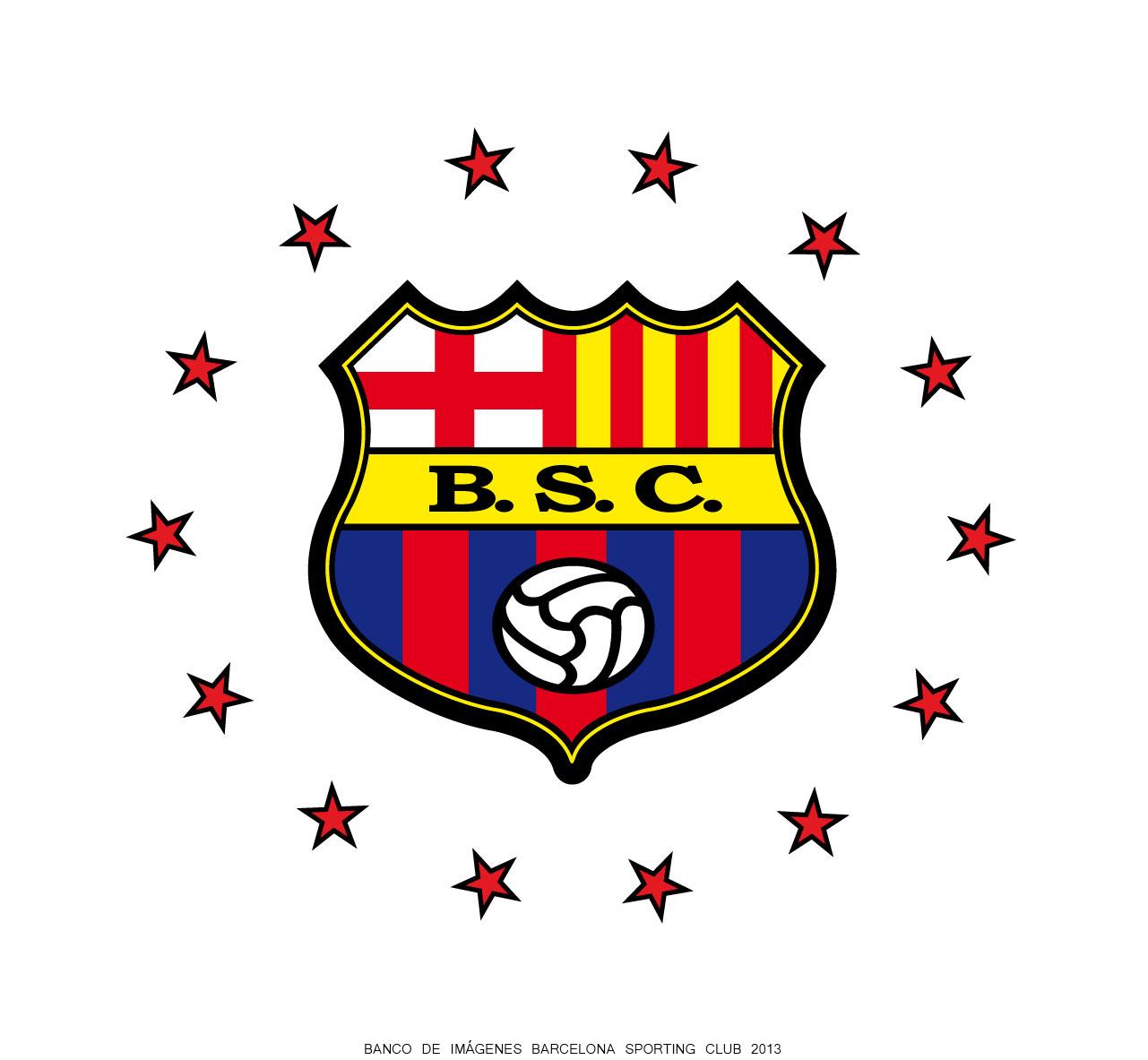 Nuevo Escudo De Barcelona Sporting Club 2013 Con 14 Estrellas En Forma