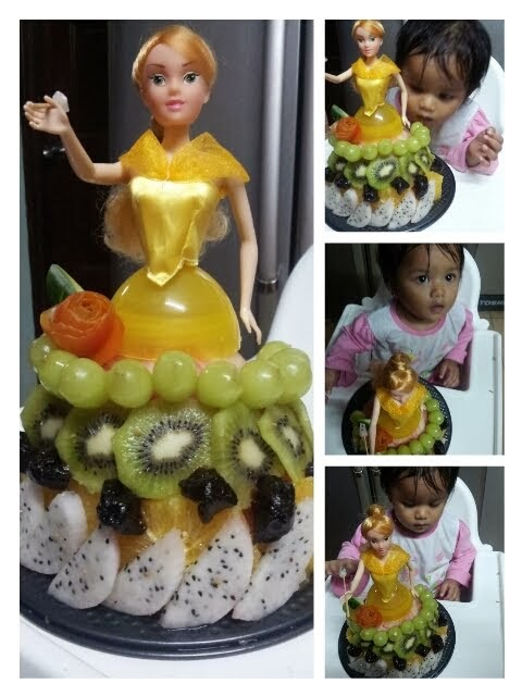Ufairah 1st Year Old Birthday :: Pure Fruit Cake