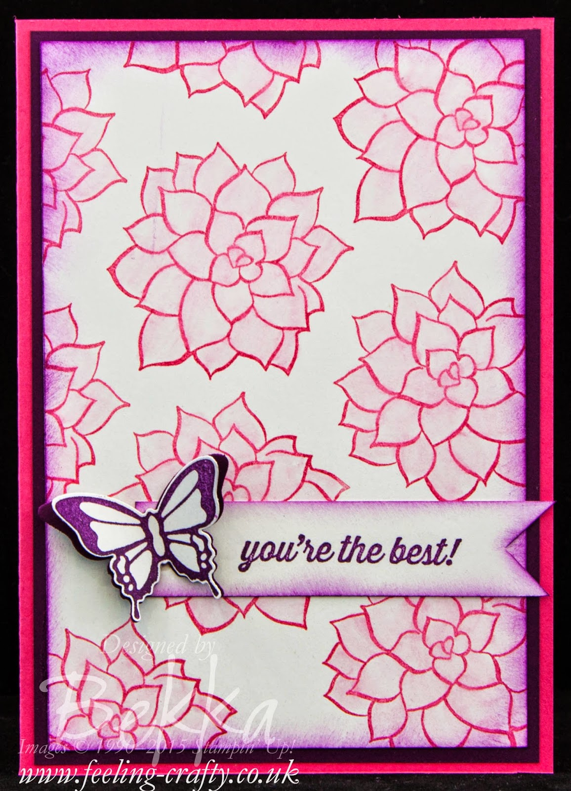 Nature's Perfection You're The Best Coloured Card. Love these free stamp sets.  Check them out here