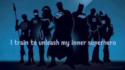 train to unleash my inner superhero, inner superhero, superheroes, marvel, blue