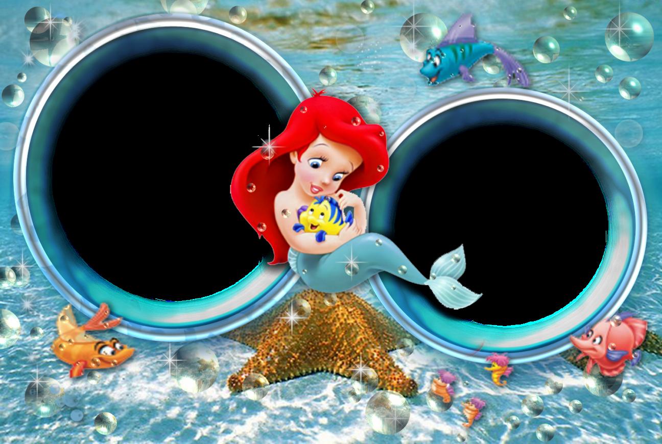 Disneyprincesa Ariel Sirenita Bordes Para Word Gratis Sirena